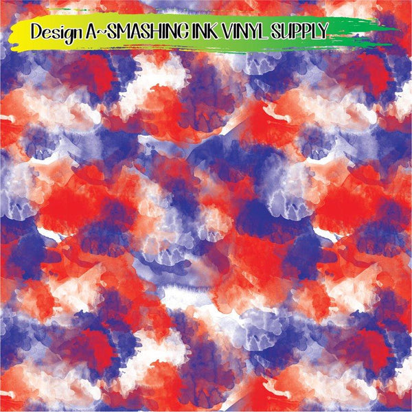 Patriotic Watercolor - Pattern Vinyl (READY IN 3 BUS DAYS)