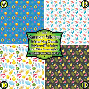 Summer Pattern - Pattern Vinyl (READY IN 3 BUS DAYS)