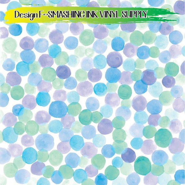 Watercolor Dots - Pattern Vinyl (READY IN 3 BUS DAYS)