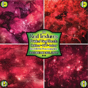 Red Texture Space - Pattern Vinyl (READY IN 3 BUS DAYS)