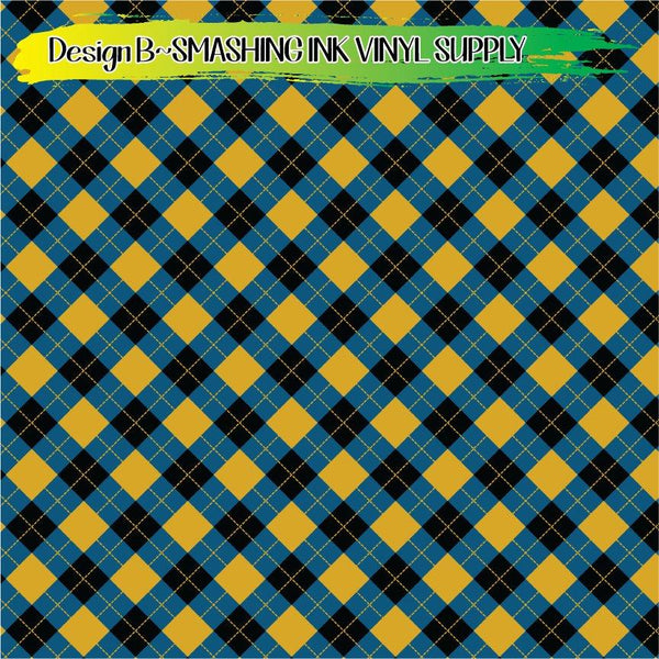 Teal Gold Black - Pattern Vinyl (READY IN 3 BUS DAYS)