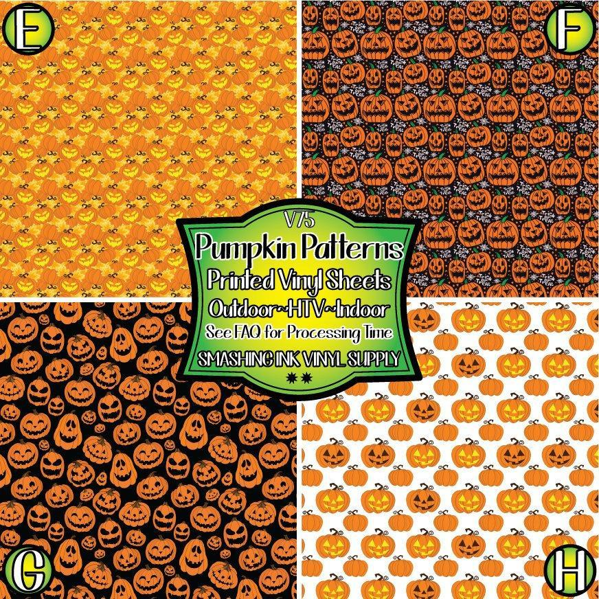 Pumpkin Patterns - Pattern Vinyl (READY IN 3 BUS DAYS)