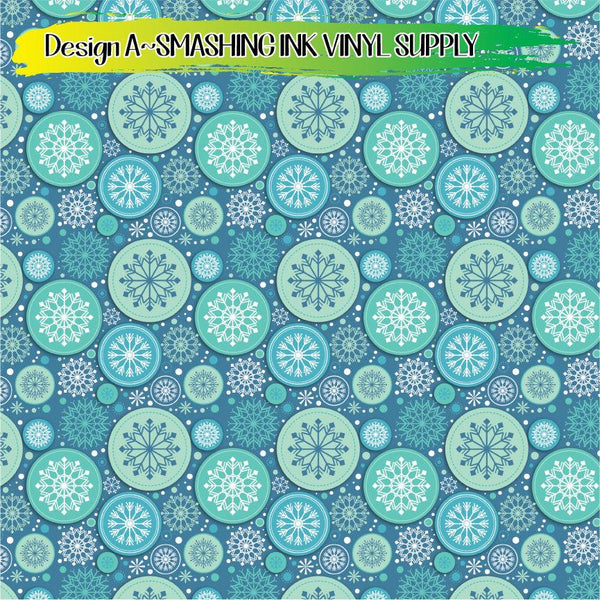 Circle Snowflakes - Pattern Vinyl (READY IN 3 BUS DAYS)