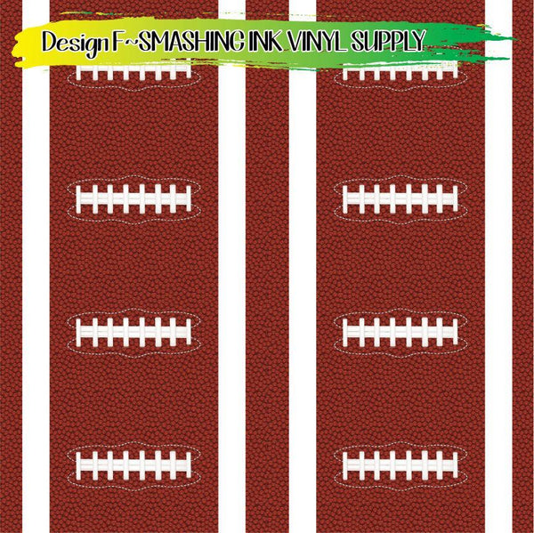 Football Laces - Pattern Vinyl (READY IN 3 BUS DAYS)