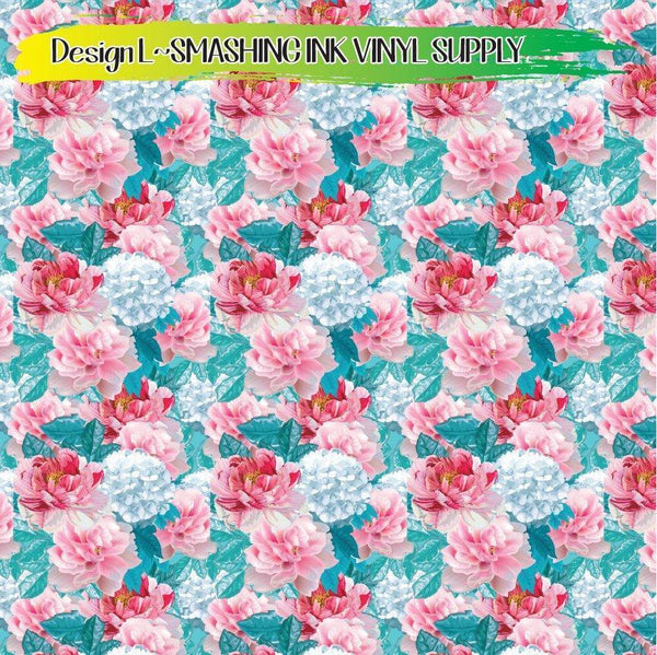 Floral Arrangement - Pattern Vinyl (READY IN 3 BUS DAYS)
