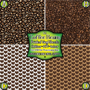 Coffee Bean - Pattern Vinyl (MTO-3 BUS DAYS)