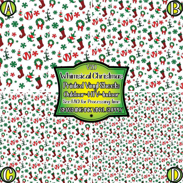 Whimsical Christmas - Pattern Vinyl (READY IN 3 BUS DAYS)