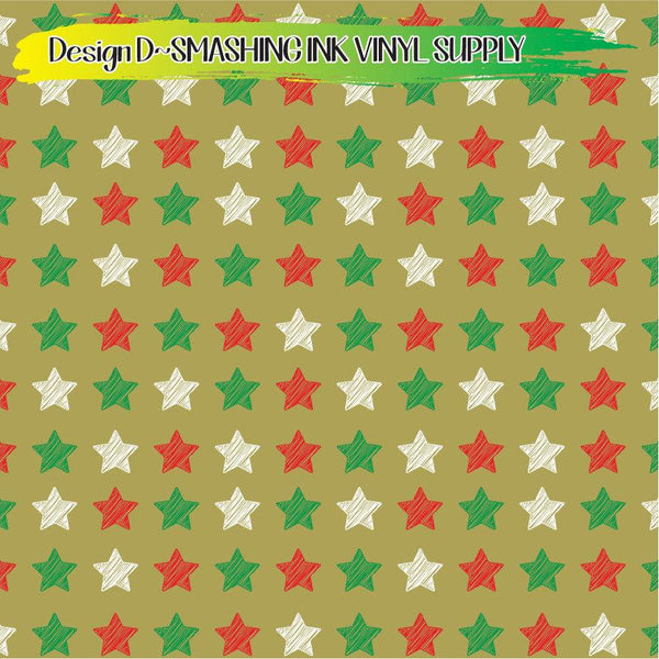 Christmas Stars - Pattern Vinyl (SHIPS IN 3 BUS DAYS)