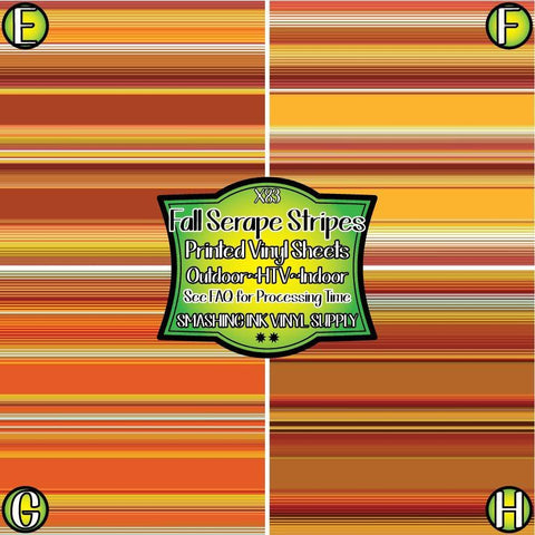 Fall Serape Stripes - Patterned Vinyl Done Printed