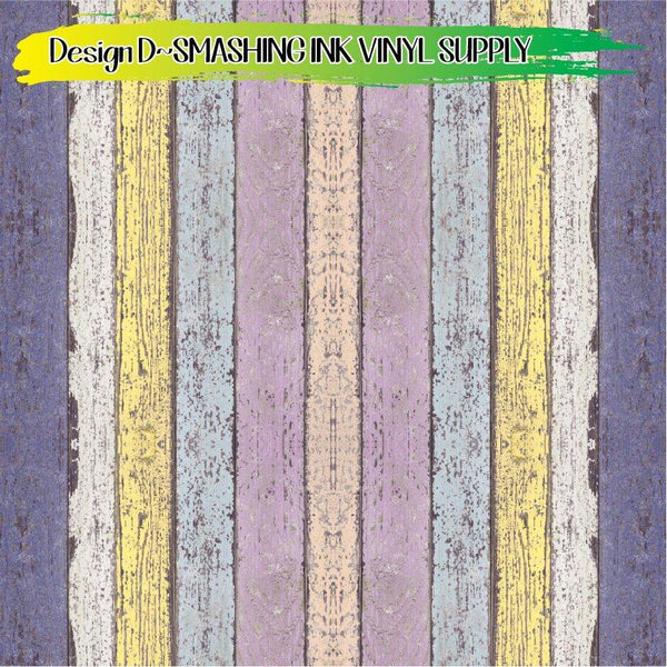 Colorful Wood - Pattern Vinyl (READY IN 3 BUS DAYS)