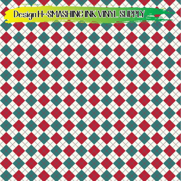 Christmas Patterns - Pattern Vinyl (READY IN 3 BUS DAYS)