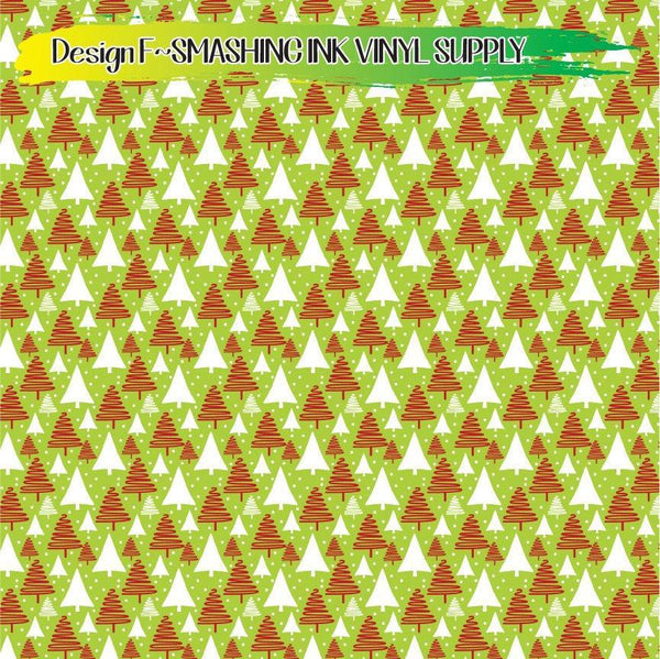 Christmas Trees - Pattern Vinyl (READY IN 3 BUS DAYS)