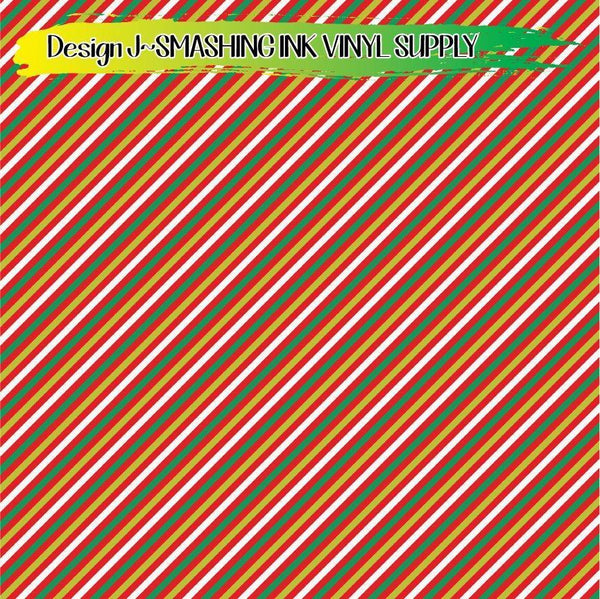 Holiday Stripes - Pattern Vinyl (READY IN 3 BUS DAYS)
