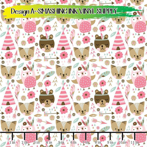 Boho Animal Pattern - Pattern Vinyl (READY IN 3 BUS DAYS)