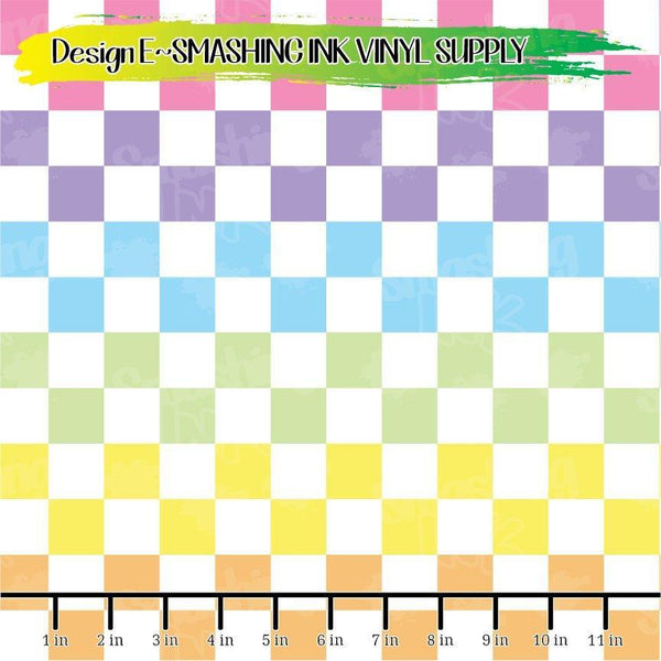 Rainbow Checker - Pattern Vinyl (READY IN 3 BUS DAYS)
