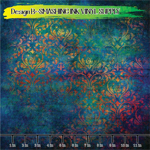 Colorful Damask - Pattern Vinyl (SHIPS IN 3 BUS DAYS)