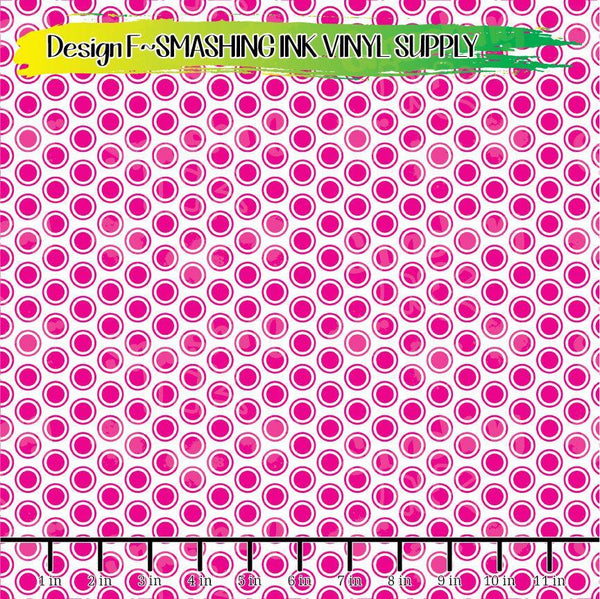 Pink White Dots - Pattern Vinyl (READY IN 3 BUS DAYS)