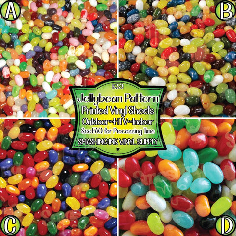 Jellybean Pattern - Patterned Vinyl Done Printed