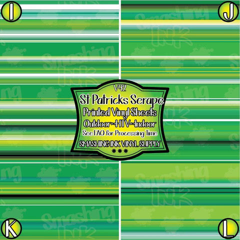 St. Patricks Serape - Patterned Vinyl Done Printed