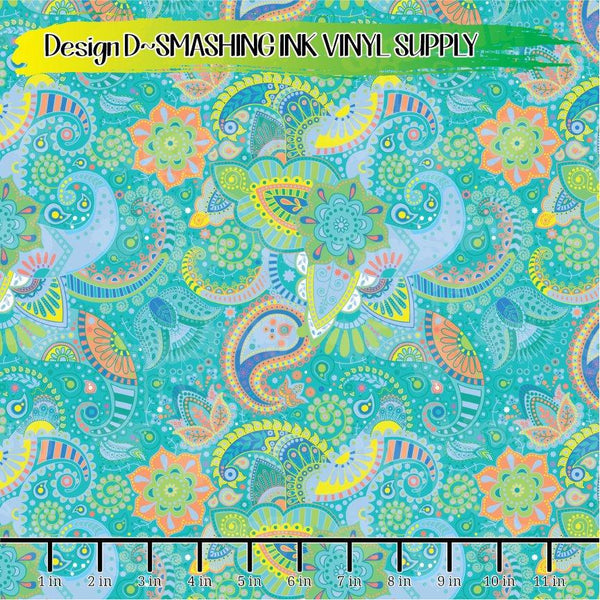 Pastel Easter Paisley - Pattern Vinyl (READY IN 3 BUS DAYS)