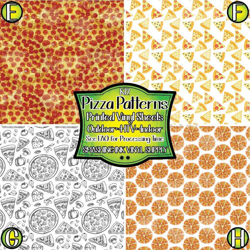 Pizza Pattern - Pattern Vinyl (SHIPS IN 3 BUS DAYS)