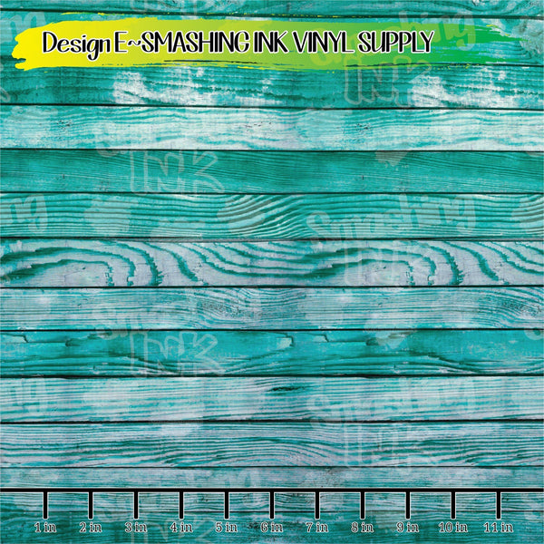 Teal Wood - Pattern Vinyl (READY IN 3 BUS DAYS)