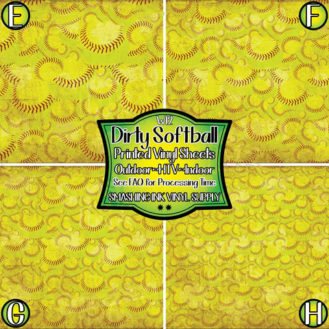 Dirty Softball - Patterned Vinyl Done Printed
