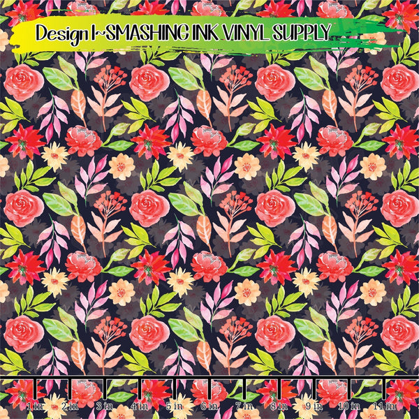 Spring Floral - Pattern Vinyl (SHIPS IN 3 BUS DAYS)