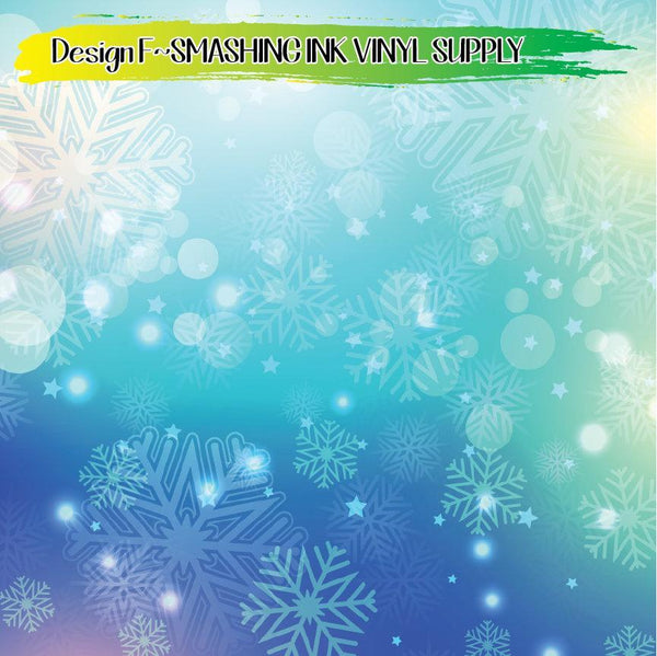 Snowflake Bokeh Pattern - Pattern Vinyl (READY IN 3 BUS DAYS)