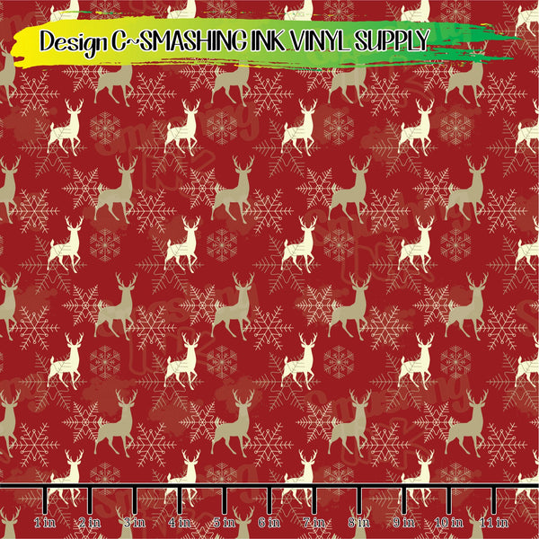 Seasonal Woodland - Pattern Vinyl (SHIPS IN 3 BUS DAYS)