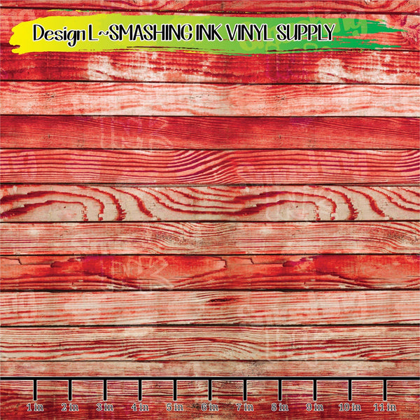 Red Wood - Pattern Vinyl (READY IN 3 BUS DAYS)