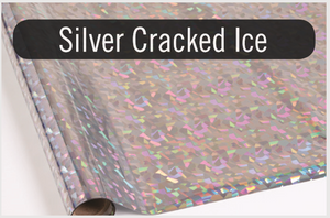 Silver Cracked Ice - Heat Transfer Foil Foil