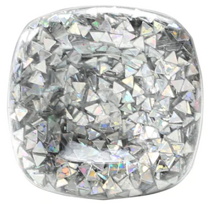 Super Chunky Glitter - Silver Triangles- .95 oz