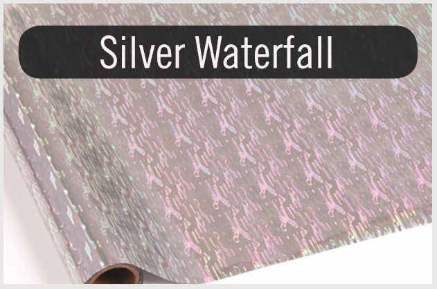 Silver Waterfall - Heat Transfer Foil