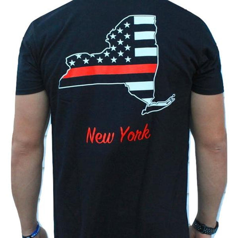 New York Red Lives Matter Short Sleeve Strong Tee