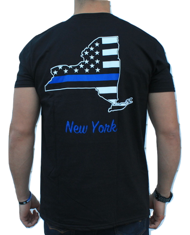 New York Blue Lives Matter Short Sleeve Strong Tee