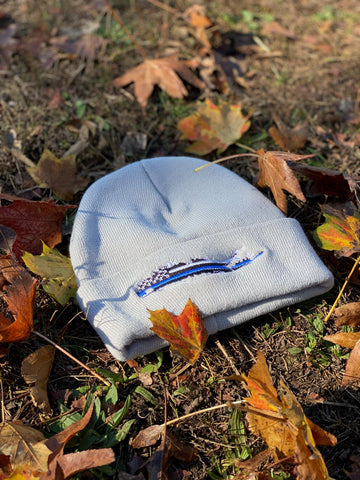 Long Island Blue Lives Matter Beanie- Grey