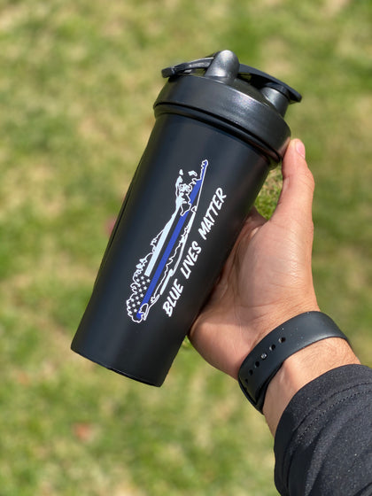 Blue Lives Matter Shaker Bottle