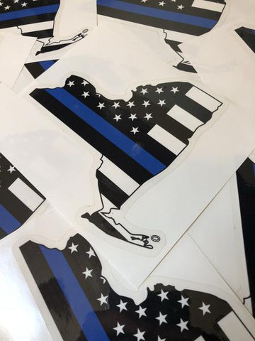 New York Blue Lives Matter Car Sticker