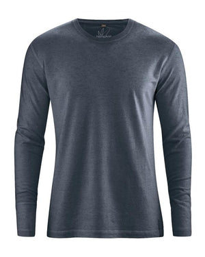 Hamp langærmet T-shirt til herrer - EcoEgo - Green Living Made Easy