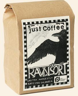 Just Coffee - Ravnsort 250g - EcoEgo - Green Living Made Easy