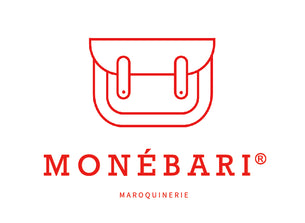 monébari cartable made in france maroquinerie logo sac