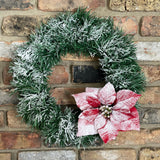 snow covered wreath