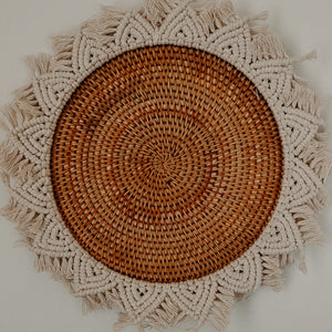 LARGE RATTAN WALL HANGING