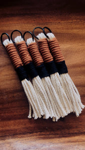 Maple & Black Tassel Keychain