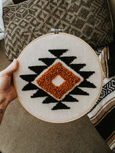 "Load image into Gallery viewer, 10"" AZTEC HOOP WALL HANGING"