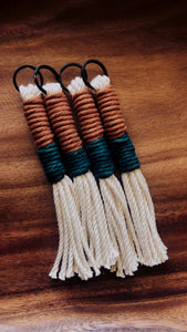 Maple & Pine Tassel Keychain