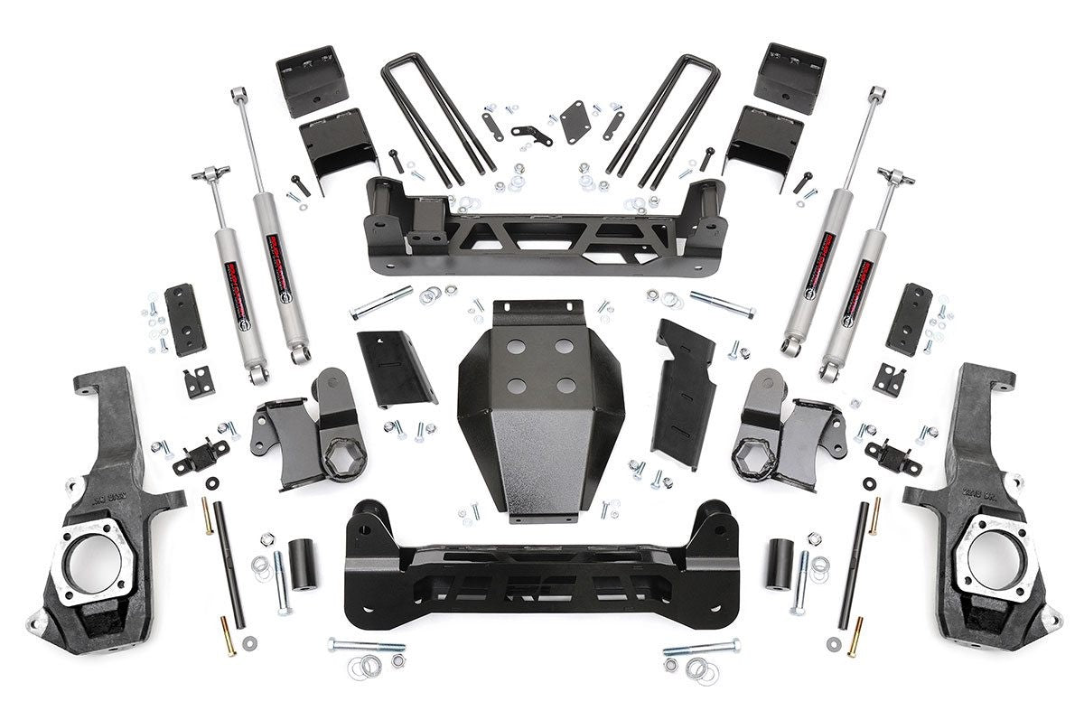 11-19 Chevy Silverado/GMC Sierra 2500HD/3500HD 5inch Rough Country Lift Kit - Elite Auto Customs