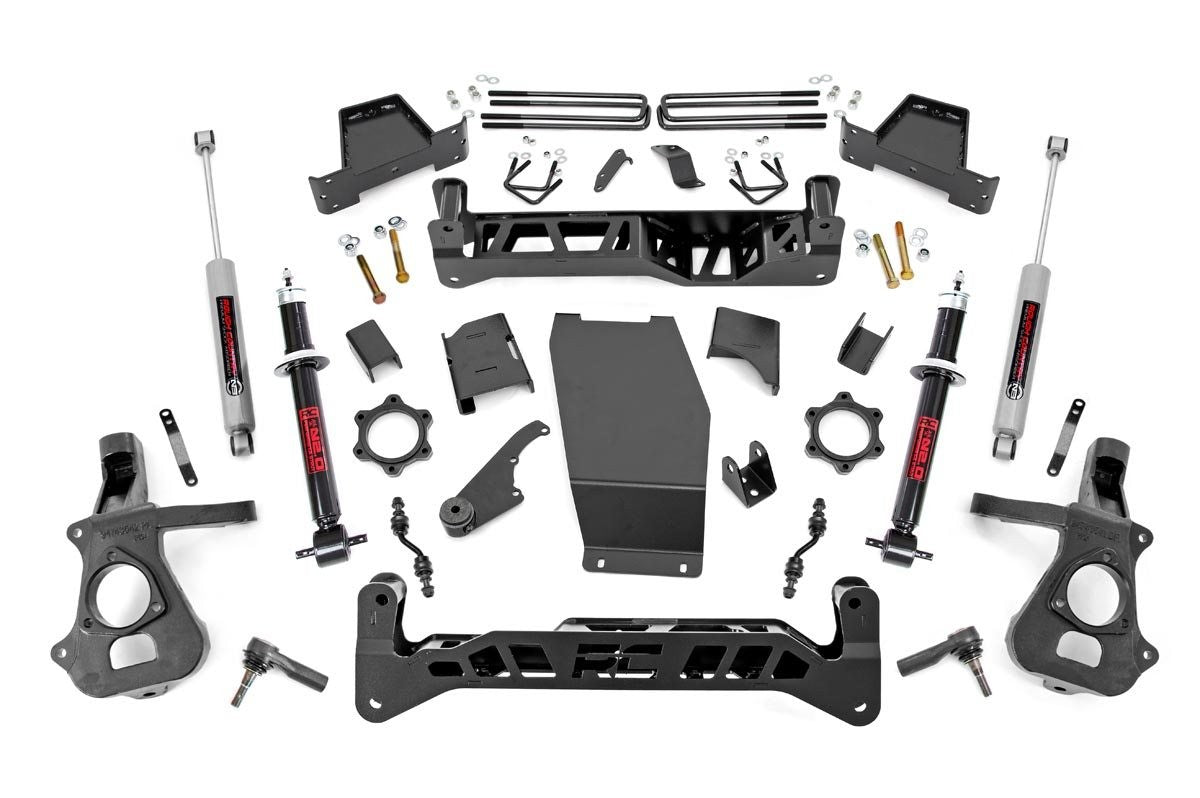 7IN GM SUSPENSION LIFT KIT (14-18 1500 PU 4WD | ALUMINUM/STAMPED STEEL) - Elite Auto Customs