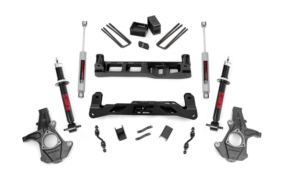 14-17 Chevy Silverado/GMC Sierra 1500  5 inch Rough Country Lift Kit - Elite Auto Customs
